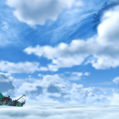 The Cloud Sea seen in Chapter 1's title screen