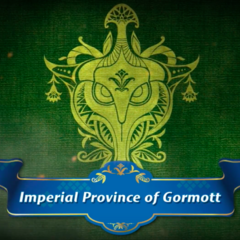 The Gormott emblem, alongside the area's original name