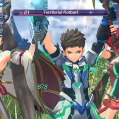 Nia with Rex and Pyra during her level 4 Special