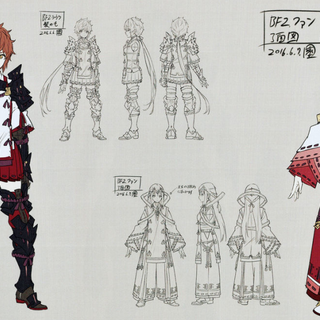 Concept artwork of Lora and Fan.