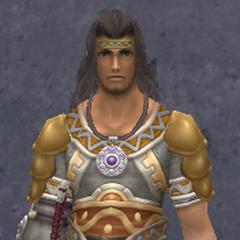 Dunban wearing the Lancelot Light Armor