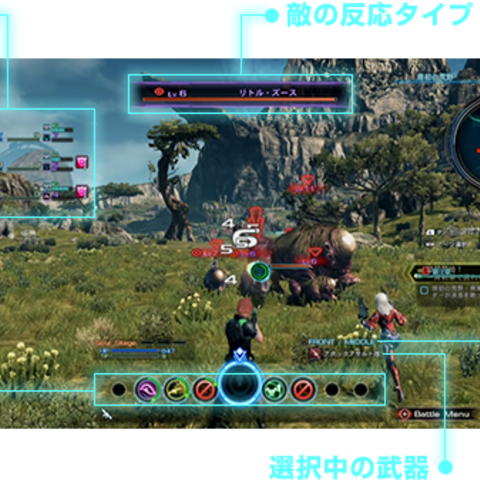 The Battle System mechanic in <i>Xenoblade Chronicles X</i>
