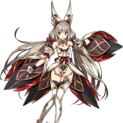 Nia as a Blade, without her weapon