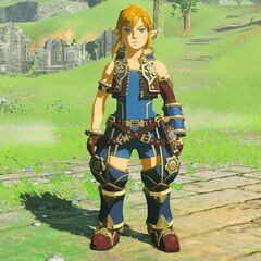 Rex's costume worn by Link in <i>The Legend of Zelda: Breath of the Wild</i>