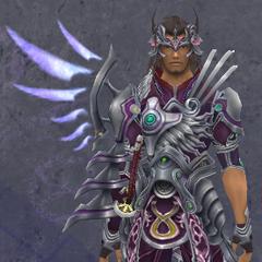 Dunban wearing the Rafaga Medium Armor