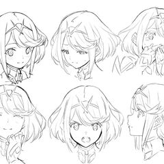 Pyra's facial expressions