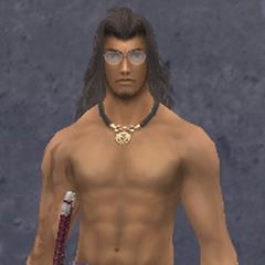 Dunban wearing the Satin Casual Armor