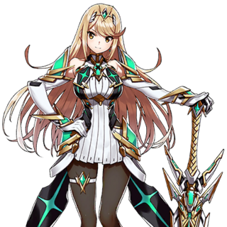 Mythra's spirit artwork in <i>Super Smash Bros. Ultimate</i>