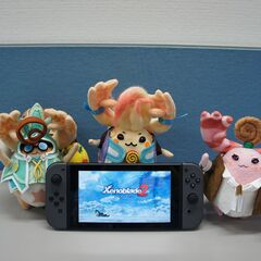 Title screen on a Japanese Switch shown by the plushy <a href=
