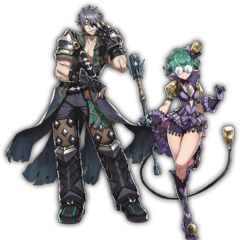 Official art of Zeke and Pandoria