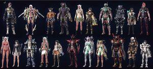 XCX Armor Variety