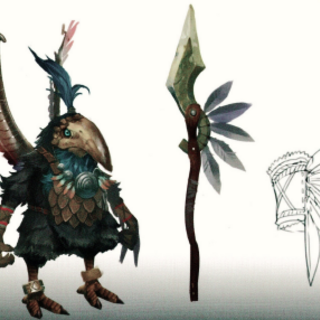 Tirkin concept art from <i>Xenoblade Chronicles 2</i>