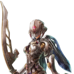 Fiora in Mechonis armour