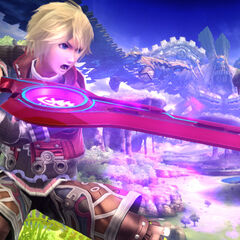 Shulk on Gaur Plain with Monado Buster active.