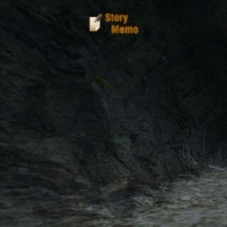 The cave that leads to the cliffside