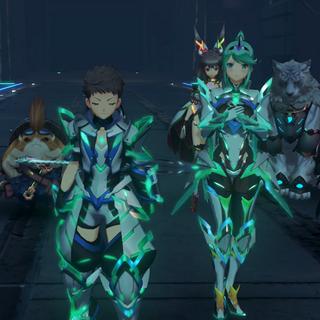 Pneuma and Rex's matching armor