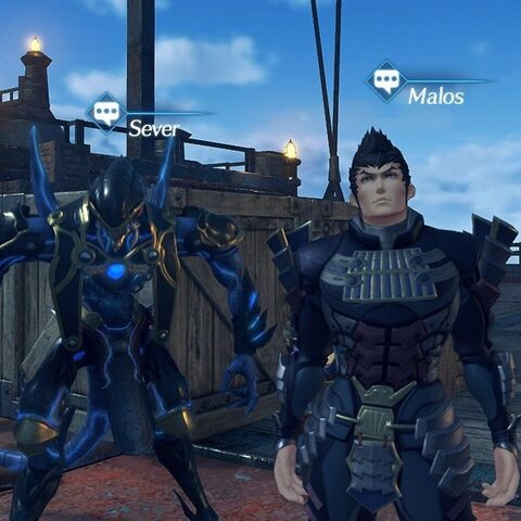 Malos and Sever as NPCs on the Maelstrom.