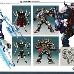 Concepts of Perdido and Cressidus from the Xenoblade 2 Artbook