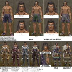 Compilation of Dunban's armour, with great detail