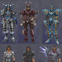 Compilation of Dunban's armour, without great detail