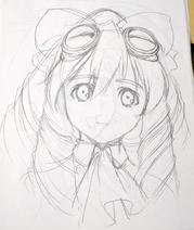 Maria portrait sketch