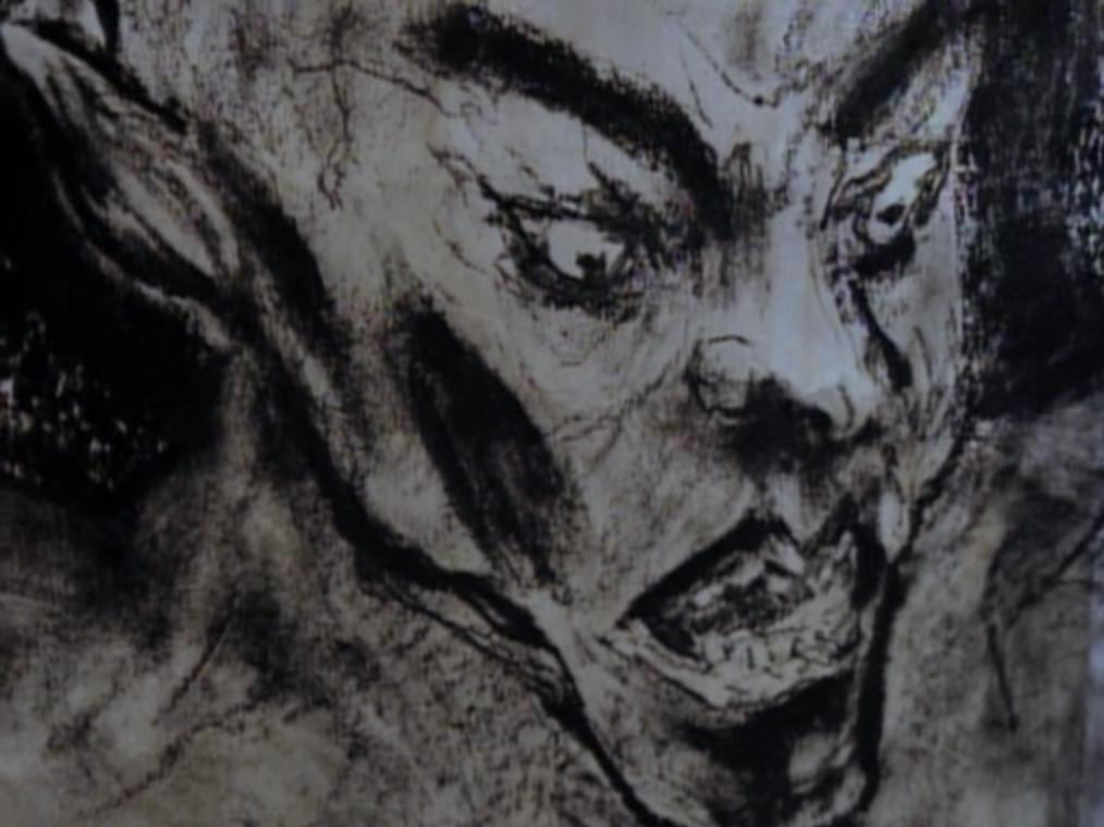 Image dessin de gargouille visage de l 39 - Dessin horreur ...
