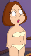 Meg's Lighter Topless Bra and Panties