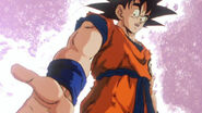 Goku successfully creates a spirt bomb on King Kai's Planet