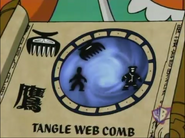 Tangle Web Comb Scroll
