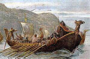 Aedan leading his men