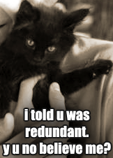 Redundant185