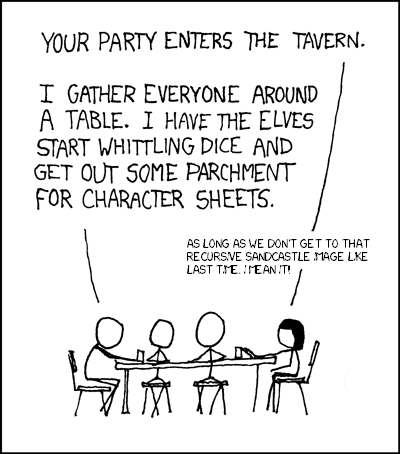 Roleplaying (xkcd 244)