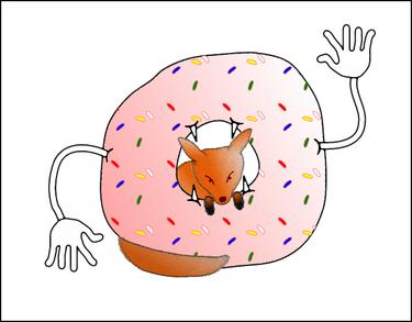 Donuteatingfox