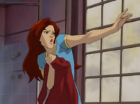 Jean uses her telekinesis on door
