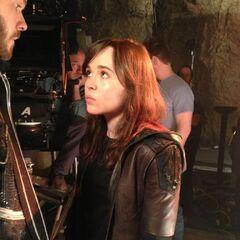 Kitty Pride / shadowcat (Ellen Page) avec Bobby Drake / Iceberg (Shawn Ashmore)