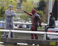 Deadpool set photo 4