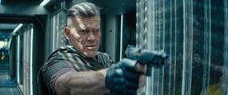 Cable after shotting Deadpool