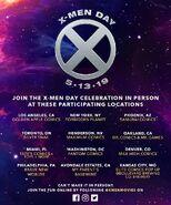 X-Men Day 2019 Locations
