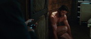 Naked Wolverine in the Barn