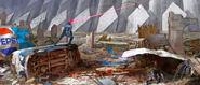 X-Men Cyclops Apocalypse concept art with Jean Grey and Storm xmen