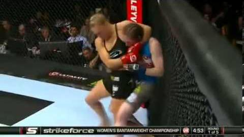 Ronda Rousey Vs Sarah Kaufman at Valley View Casino (Good Quality)