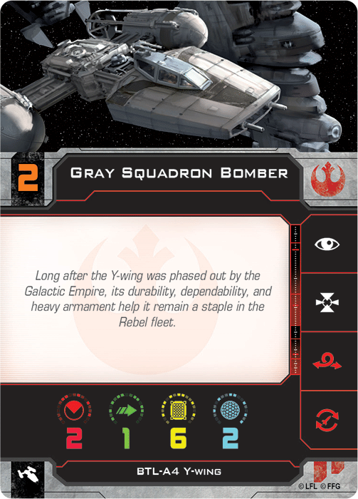 Gray Squadron Bomber   X-Wing Miniatures: Second Edition