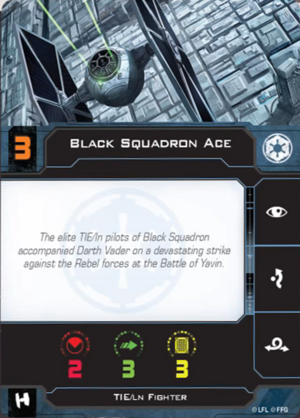 Black Squadron Ace Pilot Card