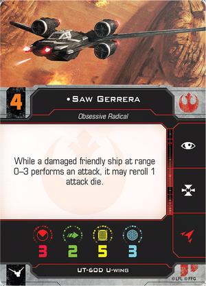 Saw Gerrera Pilot Card