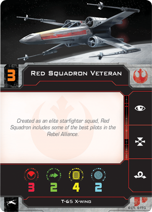 Red Squadron Veteran Pilot Card