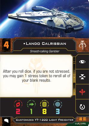 Lando Calrissian Scum Pilot Card