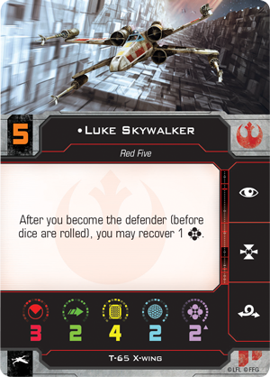 Luke Skywalker Pilot Card