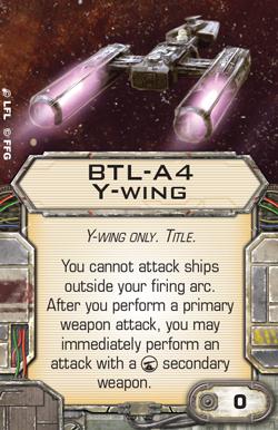 BTL-A4 Y-Wing X-Wing Second Edition