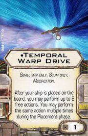 Temporal Warp Drive