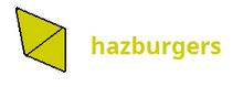 Hazburgers' current logo since December 1, 2018